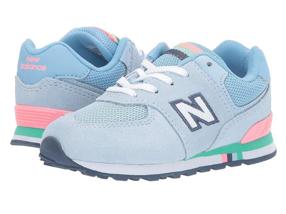 New Balance Kids 574 Summer Shore (Infant/Toddler) (Air/Guava) Girls Shoes