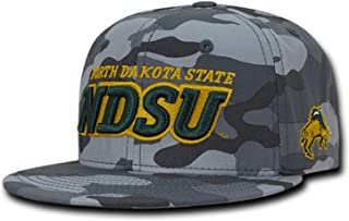 Gray North Dakota St State NDSU Bison NCAA Flat Bill Snapback Baseball Hat Cap