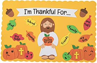 Fun Express Christian Thanksgiving Placemat Craft Kits (Makes 12) Religious Crafts for Kids