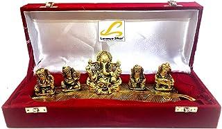 Msa Jewels - Gold Plated Lord Ganesha Idol Showpiece with Velvet Box (Gold)