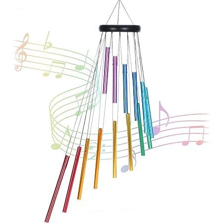 romantisches Windspiel f/ür Zuhause 4 goldfarbene Aluminiumr/öhren mobil FLCSIed Libellen-Windspiel f/ür drinnen und drau/ßen Metall wasserdicht handgefertigt Musik Windspiel