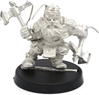 Stonehaven Dwarf Ronin Miniature Figure (for 28mm Scale Table Top War Games) - Made in US