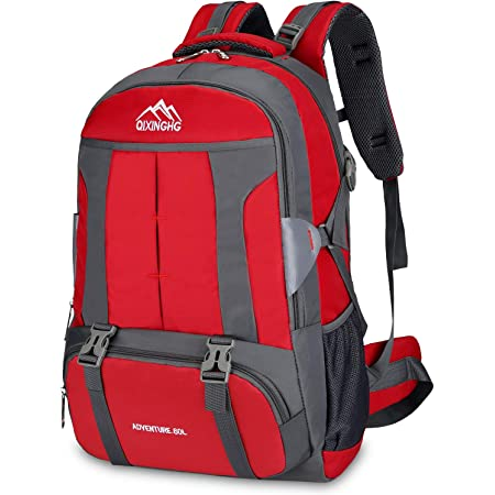 Bioasis Mochila de Senderismo, 60L Mochila de Escalada para Camping Deportes Montañismo Trekking Camping al Aire Libre