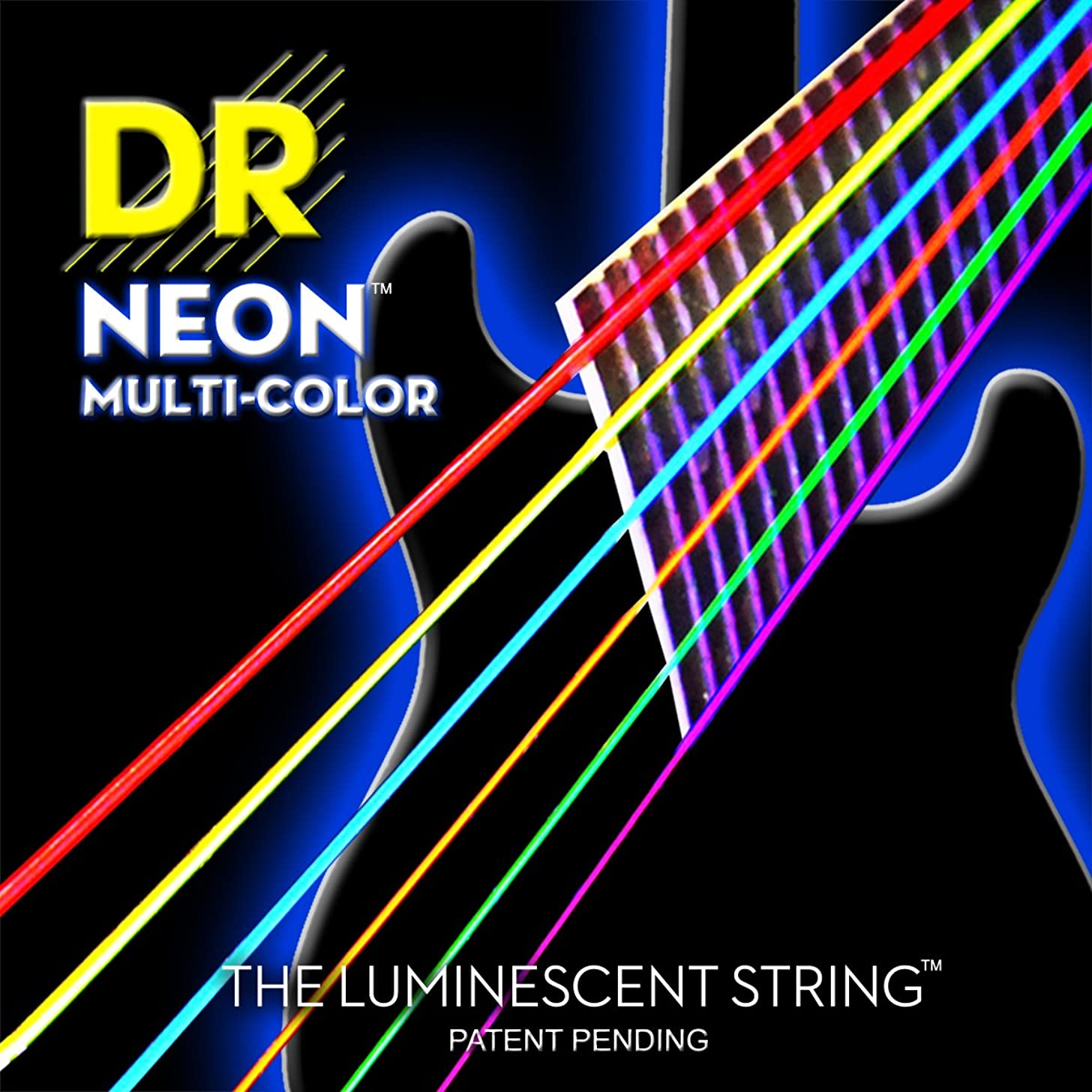 DR Strings NMCE-11 DR NEON Electric Strings, Heavy, Multi-Color