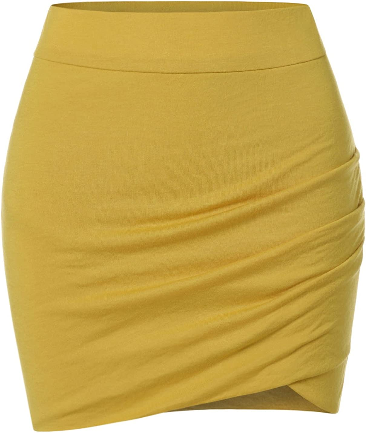 NEARKIN Womens Stretchy Waistband Max 76% OFF Skirt Sale special price Fitted Shirring Mini