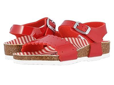 Birkenstock Kids Risa (Toddler/Little Kid/Big Kid) (Nautical Stripes/Red) Girls Shoes