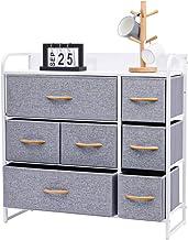 Kamiler 7-Drawer Dresser, 3-Tier Storage Organizer, Tower Unit for Bedroom, Hallway, Entryway, Closets - Sturdy Steel Fram...