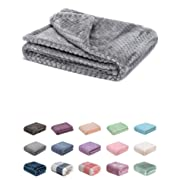 Fuzzy Blanket or Fluffy Blanket for Baby Girl or boy, Soft Warm Cozy Coral Fleece Toddler, Infant or Newborn Receiving Blanket for Crib, Stroller, Travel, Decorative (28Wx40L, XS-Flint Gray)