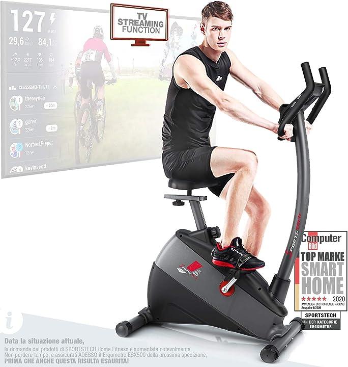 Cyclette sportstech ergometro esx500 app+5,5