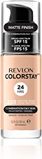 Revlon ColorStay Makeup Foundation for Combination/Oily Skin, 30ml, 220 Natural Beige