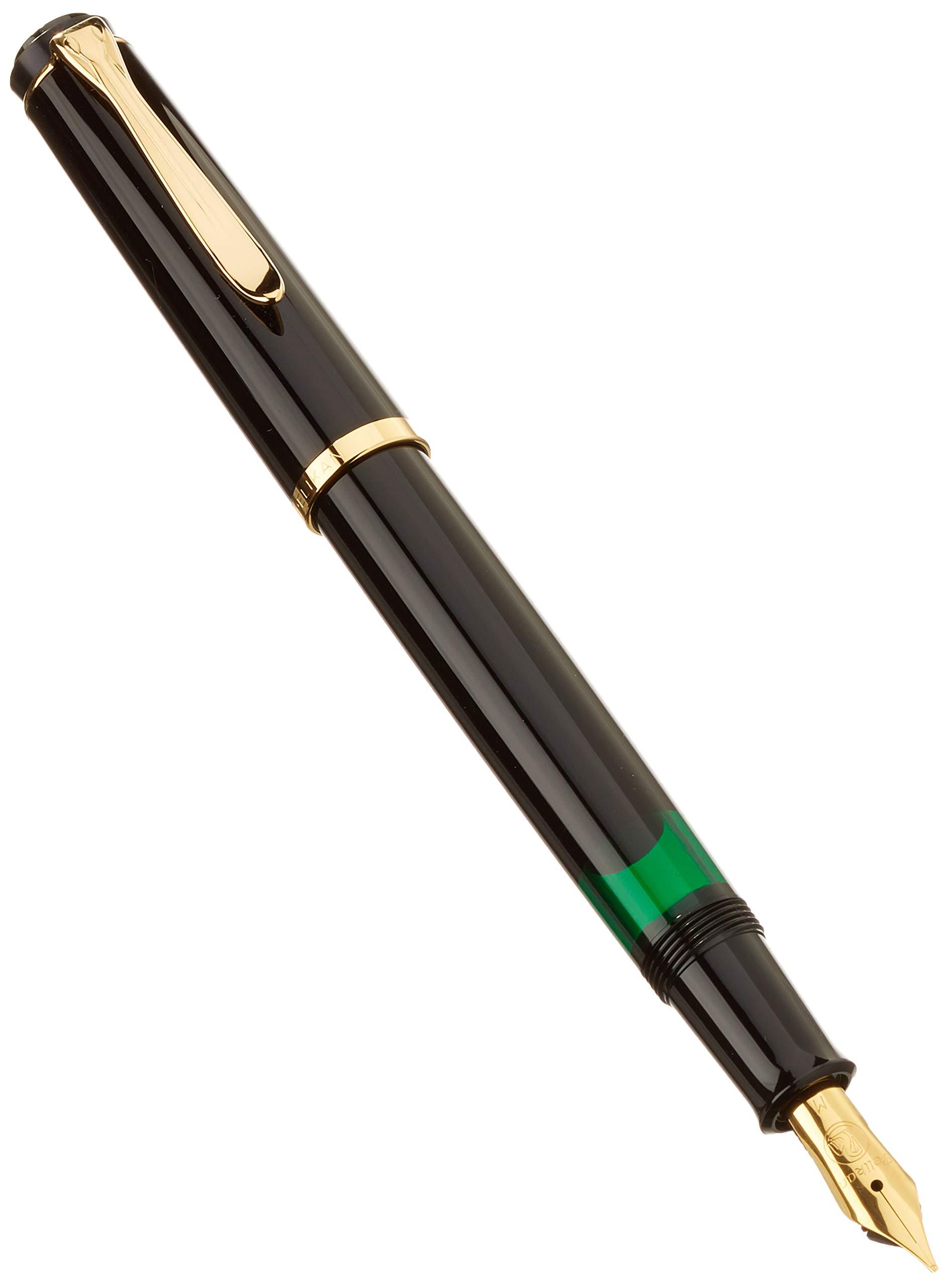 Pelikan M200 983064 - Pluma con plumín M, color negro: Amazon.es: Oficina y papelería