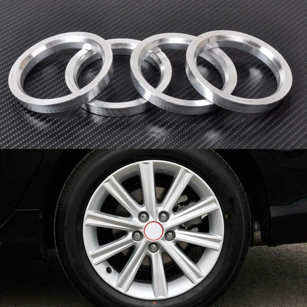KIKITOG 4pcs New Aluminum Hub Rings 73.1mm Year-end gift Ranking TOP13 W 60.1mm to Car