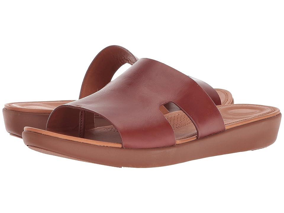FitFlop H-Bar Slide Sandals (Cognac) Women