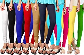 5371224a560a Shmayra Multicolor Soft & Stretchable Churidar Leggings for Womens Free  Size – Leggings Combo Offer