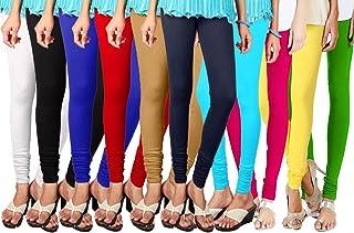 e6353c6c59df Shmayra Multicolor Soft & Stretchable Churidar Leggings for Womens Free  Size – Leggings Combo Offer