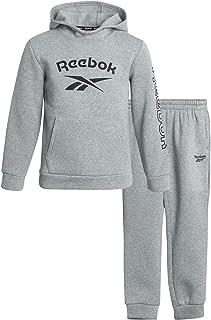Reebok Boys' Jogger Set - 2 Piece Fleece Sweatsuit Kids Clothing Set (Size: 4-12)
