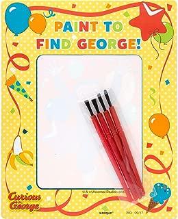 Unique Curious George Watercolor Painting Party Set
