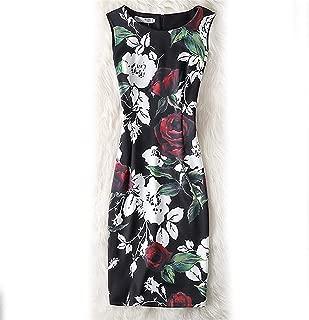 Casual Vintage Floral Bodycon Dress Female Plus Size 4XL Vestidos
