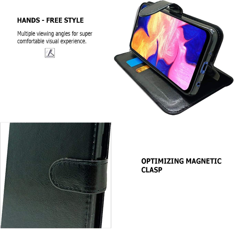 Case for Samsung Galaxy A10 //M10 Phone Case Black Book PU Premium Leather Magnetic Closure Flip Book Card Holder Wallet Stand A10//M10 Book Case