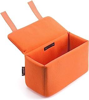 サンワダイレクト カメラバッグ インナーボックス 仕切り2枚付 一眼レフ クッション13mm厚 オレンジ 200-BG019L