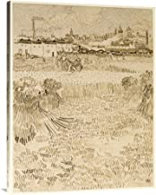 Global Gallery Budget GCS-454971-3040-142 Vincent Van Gogh Arles: View from The Wheatfields Gallery Wrap Giclee on Canvas Wall Art Print