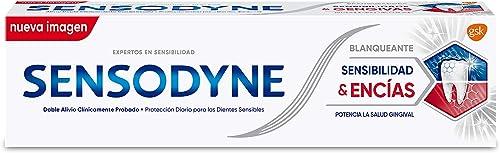 Sensodyne Sensibilidad & Encías Pasta de Dientes Blanqueante con Flúor para el Alivio de la Sensibilidad Dental y Pot...