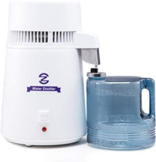CO-Z FDA Approved Water Distiller, Distilling Pure Water Machine for Home Countertop Table Desktop, 4L Distilled Water Making Machine, 4 Liter Water Purifier to Make Clean Water for Home Use
