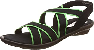 Catwalk Women's Neon Accent Strappy Sandals