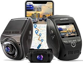 REXING V1P MAX 4K UHD DUAL CHANNEL DASH CAM, 3840X2160 FRONT+1080p REAR, WiFi GPS Car Dash Camera w/Night Vision, Supercap...