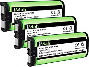 3-Pack iMah HHR-P105 Cordless Phone Battery Compatible with Panasonic HHR-P105A KX-TG5777 KX-TGA242 KX-TGA571 (Type 31) Home Handset Telephone