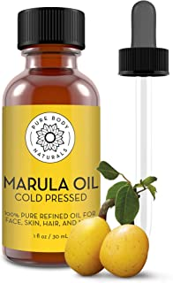 Pure Body Naturals Marula Facial Oil, 1 Fluid Ounce - Cold-pressed, Refined Luxury Beauty Oil for Face and Hair - Vegan, Gluten-free and 100% Natural