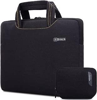 BRINCH Universal Fabric Portable Anti-Tear 14-14.4 Inch Laptop Sleeve Case for Apple MacBook/Chromebook/Acer/Asus/Dell/Fujitsu/Lenovo/HP/Samsung/Sony/Toshiba with Accessory Bag, Black