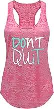 Tough Cookie's Women's Don't Quit Do It Printed Art Burnout Tank Top