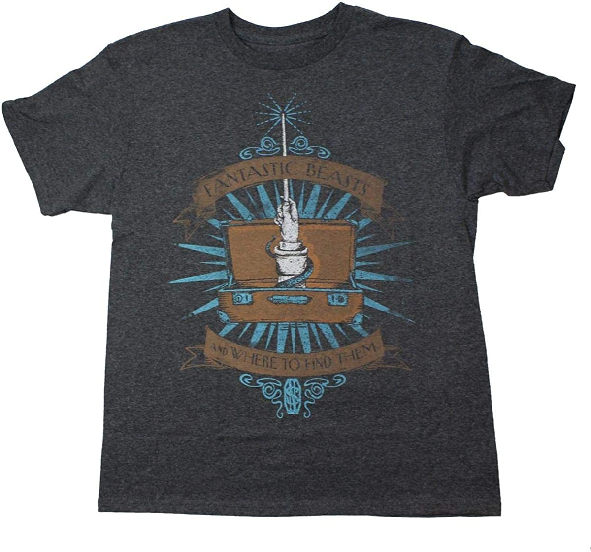 Bioworld Fantastic Beasts Youth Charcoal Logo T-Shirt