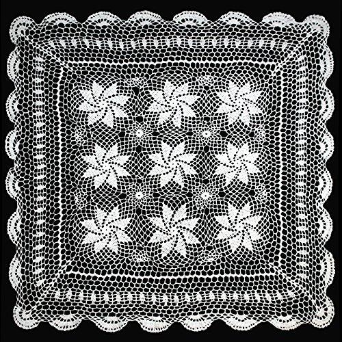 """altotux 30""""vintage Crochet encaje blondas mantel individual color blanco hecho a mano tela de costura"""