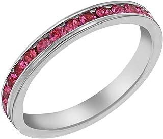 Tuscany Silver 标准纯银粉红色永恒叠叠圈