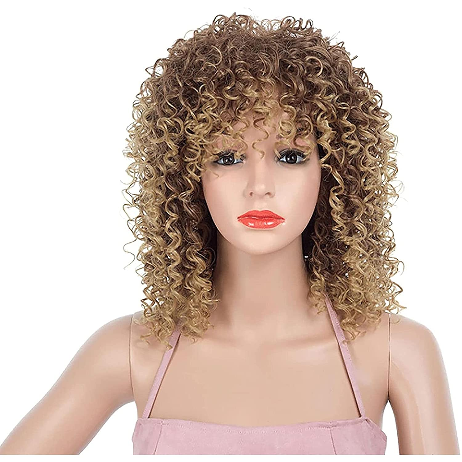 Cosplay Short Max 83% OFF Curly Wigs for Kinky Soldering Black Afro Women F