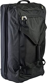 Men's 30in Deluxe Rolling Duffle Bag, Split Level Storage, BLACK