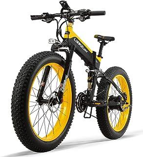 48v 500 w kraftfull elektrisk cykel 26 tum 4,0 fett däck cykel, aluminiumlegering material maximal hastighet: 40 km/h gul