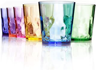coloured plastic drinking glasses