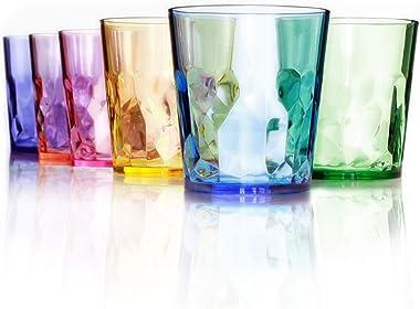 SCANDINOVIA – Vasos irrompibles premium para beber, juego de 6 vasos de plástico Tritan, perfectos para regalos, sin BPA, apt