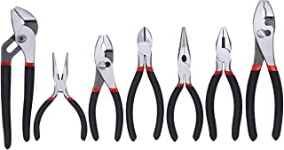 FASTPRO 7-piece Utility Pliers Set, Includes Slip Joint Pliers, Long Nose Pliers, Diagonal Pliers, Groove Joint Pliers, Li...