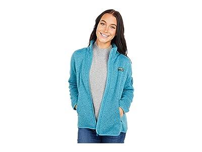 L.L.Bean Petite Sweater Fleece Full Zip Jacket (Evening Blue) Women