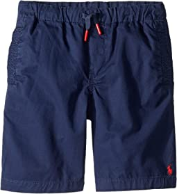 Cotton Chino Pull-On Shorts (Little Kids)