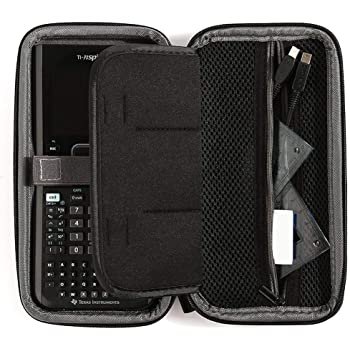 Case for Texas Instruments Ti Nspire CX CAS/CX II CAS Color Graphing Calculator, Large Capacity for Pens, Cables and Other Accessories -Black (Box Only)