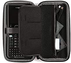 Case for Texas Instruments Ti Nspire CX CAS/II Graphing Calculator, Large Capacity for Pens, Cables and Other Accessories -Black (Box Only)
