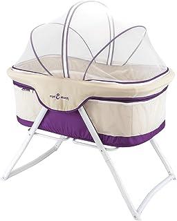 3-in-1 Baby Babybett Beistellbett Reisebett inkl. Moskitohaube, Matratze und Tasche - Violett
