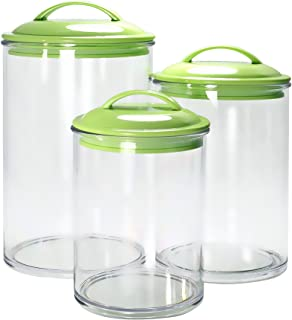 lime green kitchen canisters