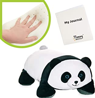 """MEMORY MATES Booski The Panda Memory Foam Pillow Plush with Kid's Diary That Stores in Belly Pocket, 15"""" Stuffed Animal, 6..."""