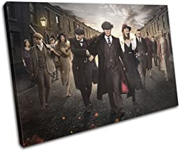 Bold Bloc Design - Peaky Blinders Television Show TV 60x40cm Single Canvas Art Print Box Framed Picture Wall Hanging - Hand Made in The UK - Framed and Ready to Hang 13-2481(00B)-SG32-LO-B